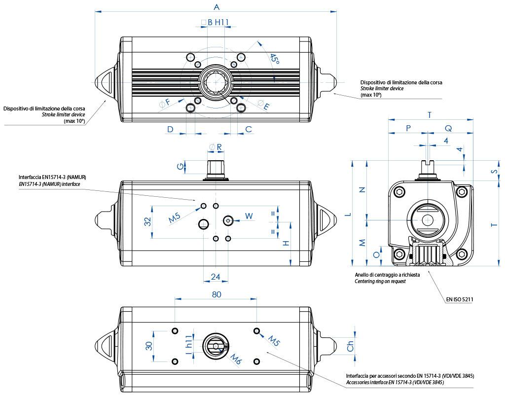 GD双效铝制气动执行器 - 特性 - GD15(Nm)至GD1920(Nm)的双效执行器
