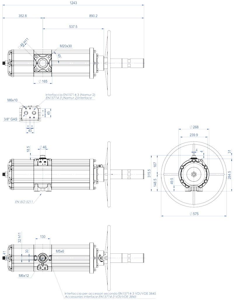 集成手动操纵装置的GDV型双效气动执行器 - 特性 - GDV3840