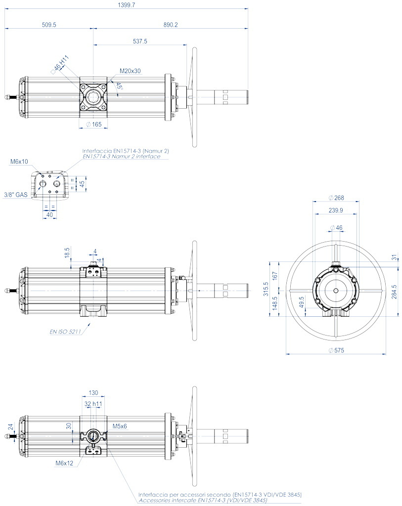 集成手动操纵装置的GSV型单效气动执行器 - 特性 - GSV1920
