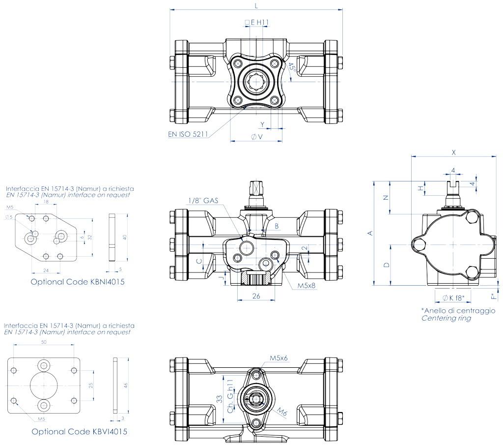 失蜡法CF8M不锈钢材质GD型双效气动执行器 - 特性 - GD15 ÷ GD30