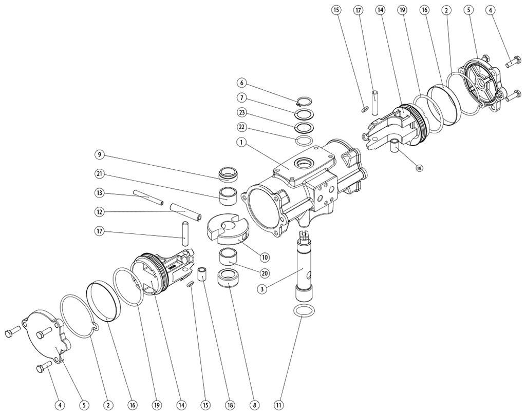 失蜡法CF8M不锈钢材质GD型双效气动执行器 - 物料 -