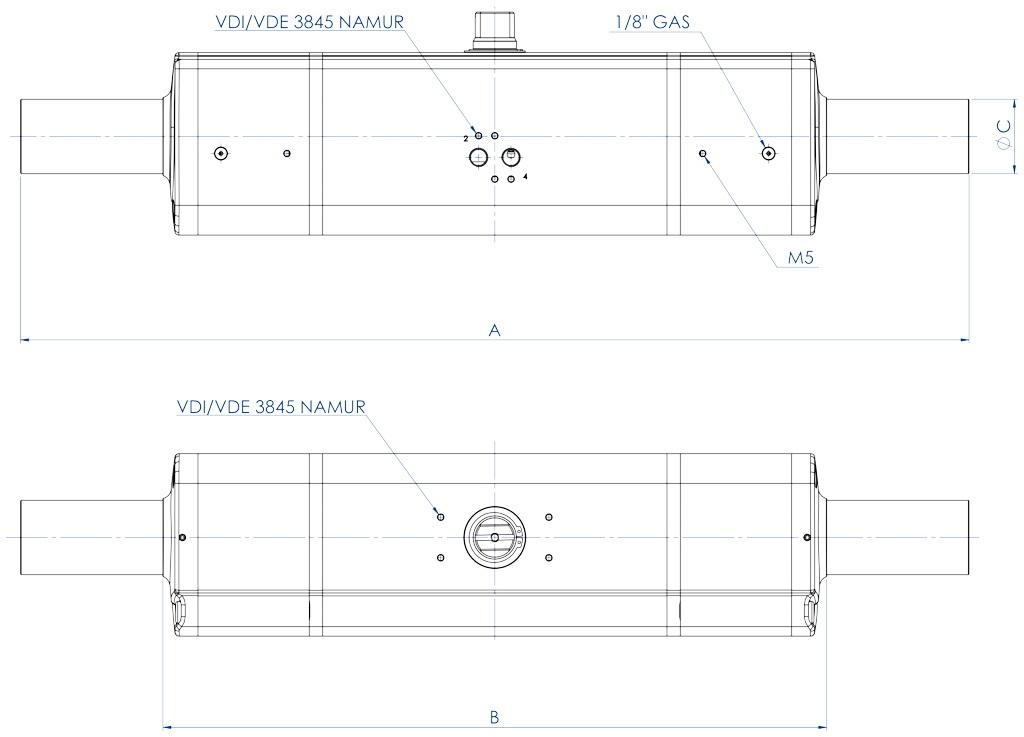 铝制GDD型计量给料气动执行器 - 特性 -