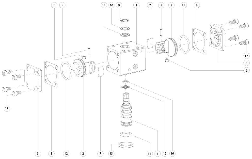 GD双效铝制气动执行器 - 物料 - 下述尺寸的双效气动执行器组件:GD8