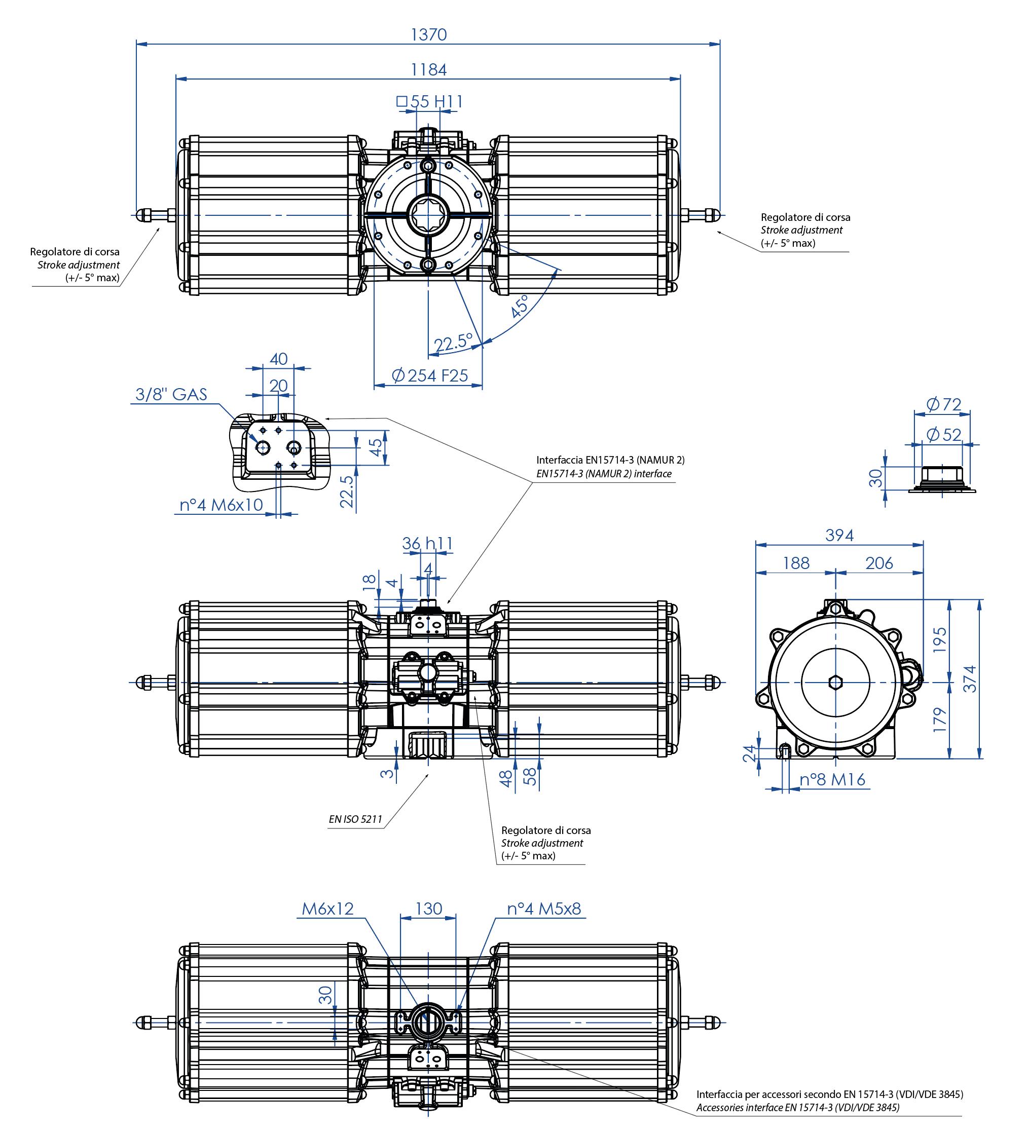 GS型铝制单效气动执行器 - 特性 - GS4000(Nm)单效气动执行器