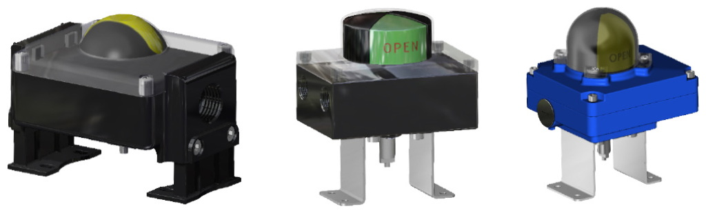 A105碳钢材质GS单效气动执行器 - 附件 - 配备限位器的信号盒