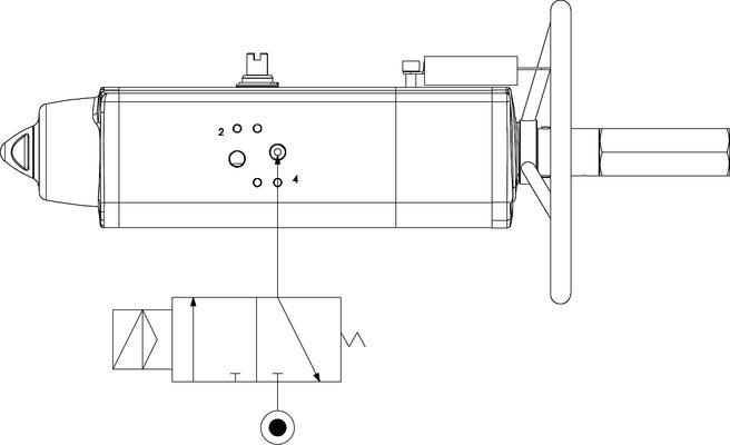 集成手动操纵装置的GSV型单效气动执行器 - 规格 -
