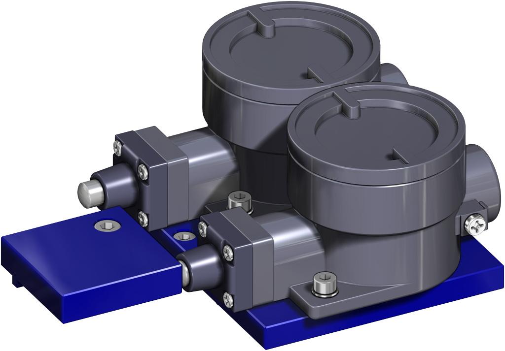 A105碳钢材质GS单效气动执行器 - 附件 - 抗爆燃限位器II2GD ExdIIC