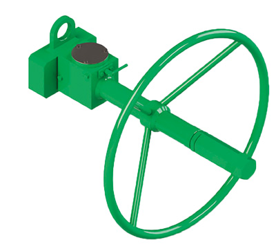 碳钢材质GD型重载荷双效气动执行器 - 附件 - 用于双效执行器的可拆卸式紧急手动控制装置