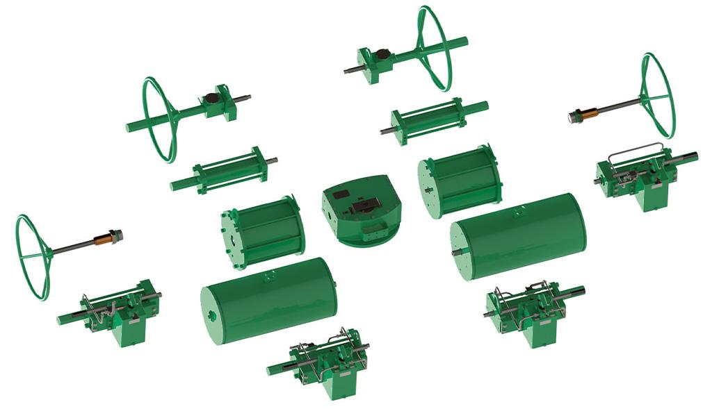 碳钢材质GD型重载荷双效气动执行器 - 附件 - 模块化构造设计