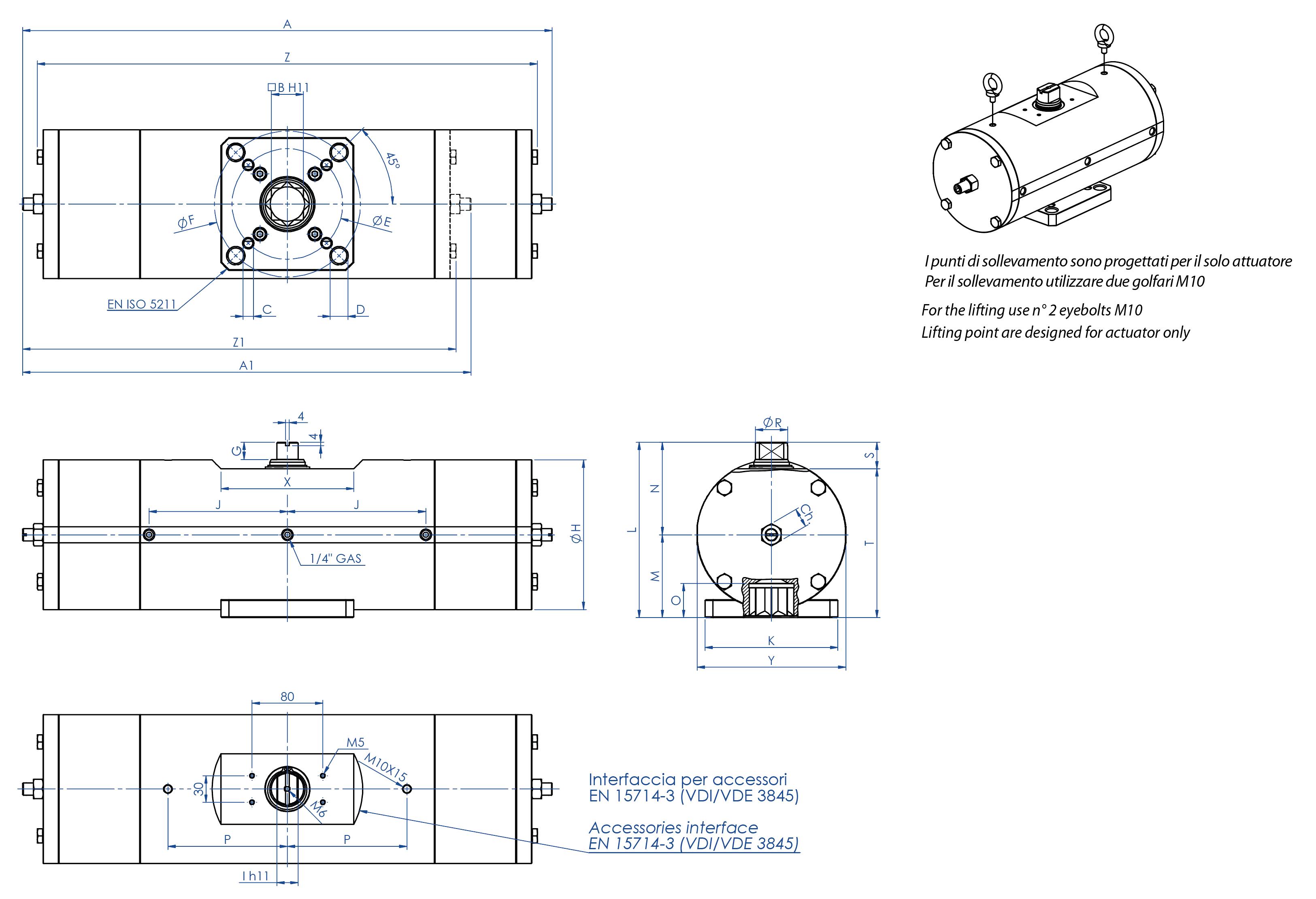 316圆不锈钢材质GS型单效气动执行器 - 特性 -