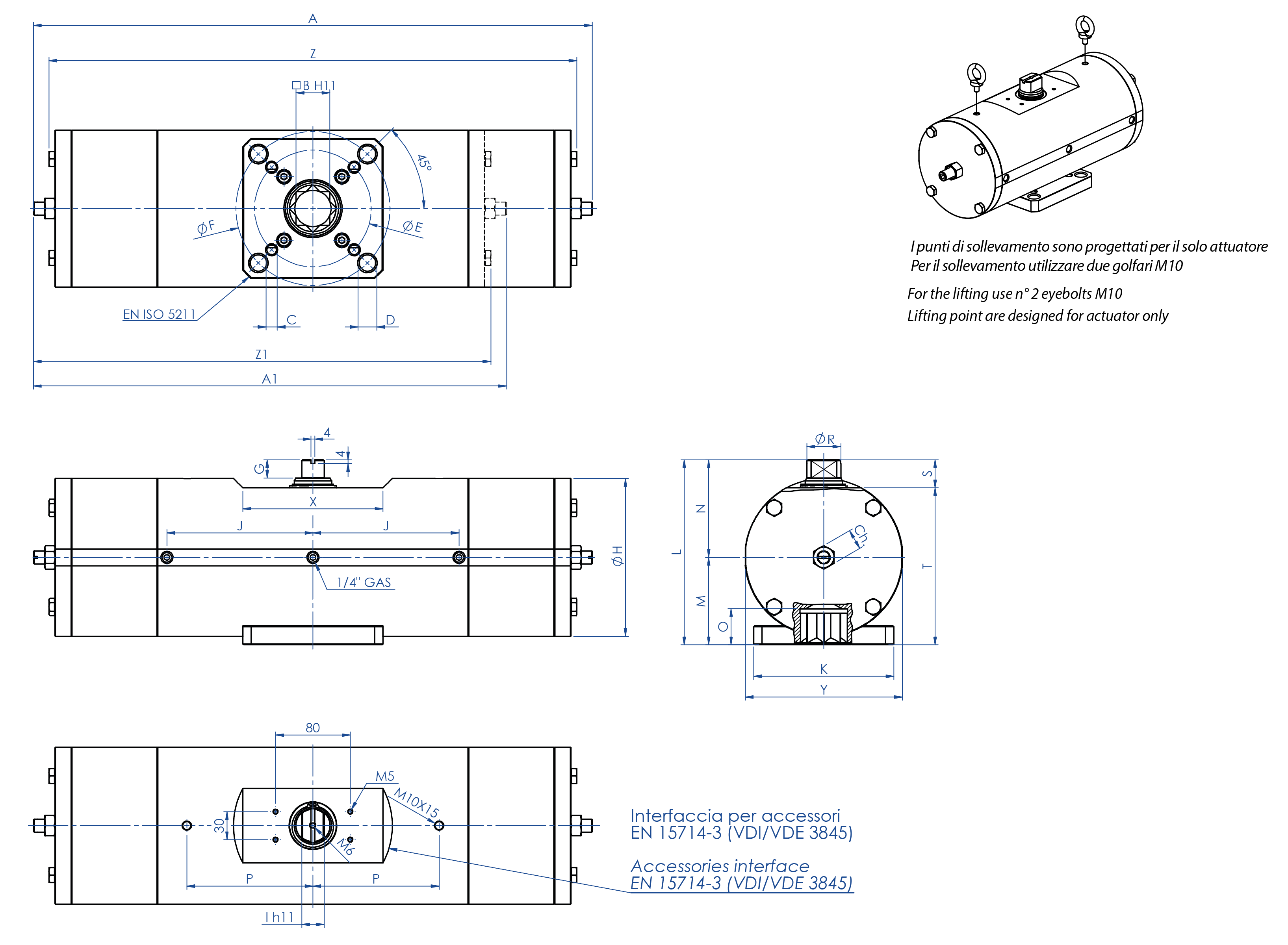 A105碳钢材质GS单效气动执行器 - 特性 -